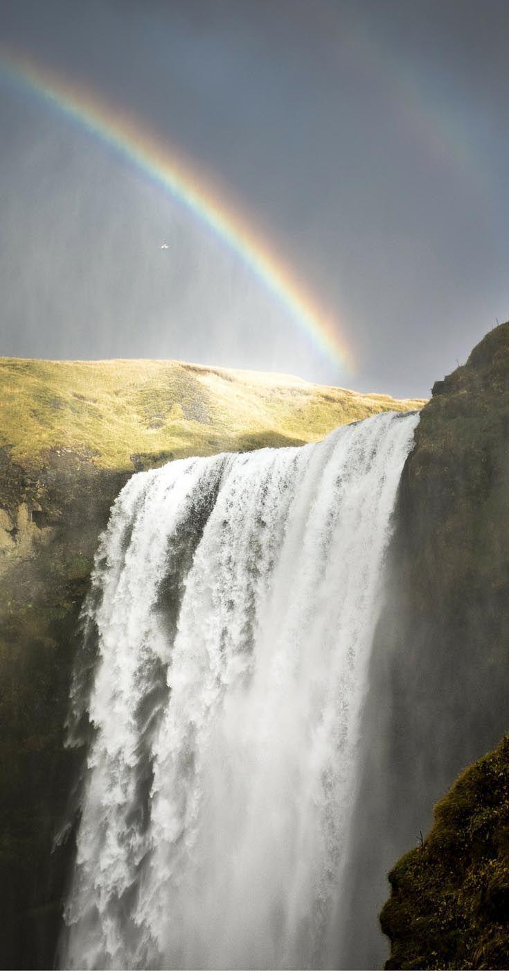 Skogafoss Waterfall coloring #8, Download drawings