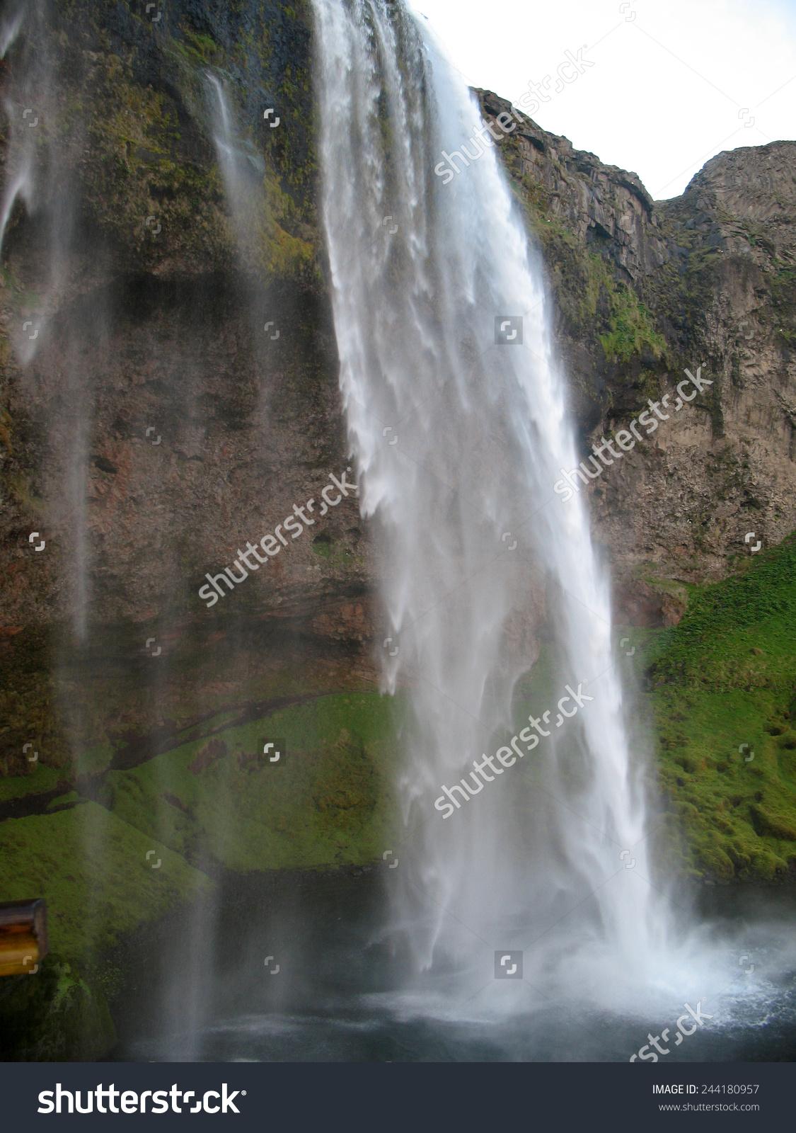 Skogafoss Waterfall coloring #5, Download drawings