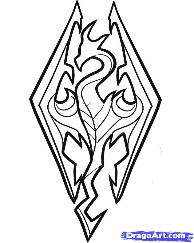 Skyrim coloring #16, Download drawings