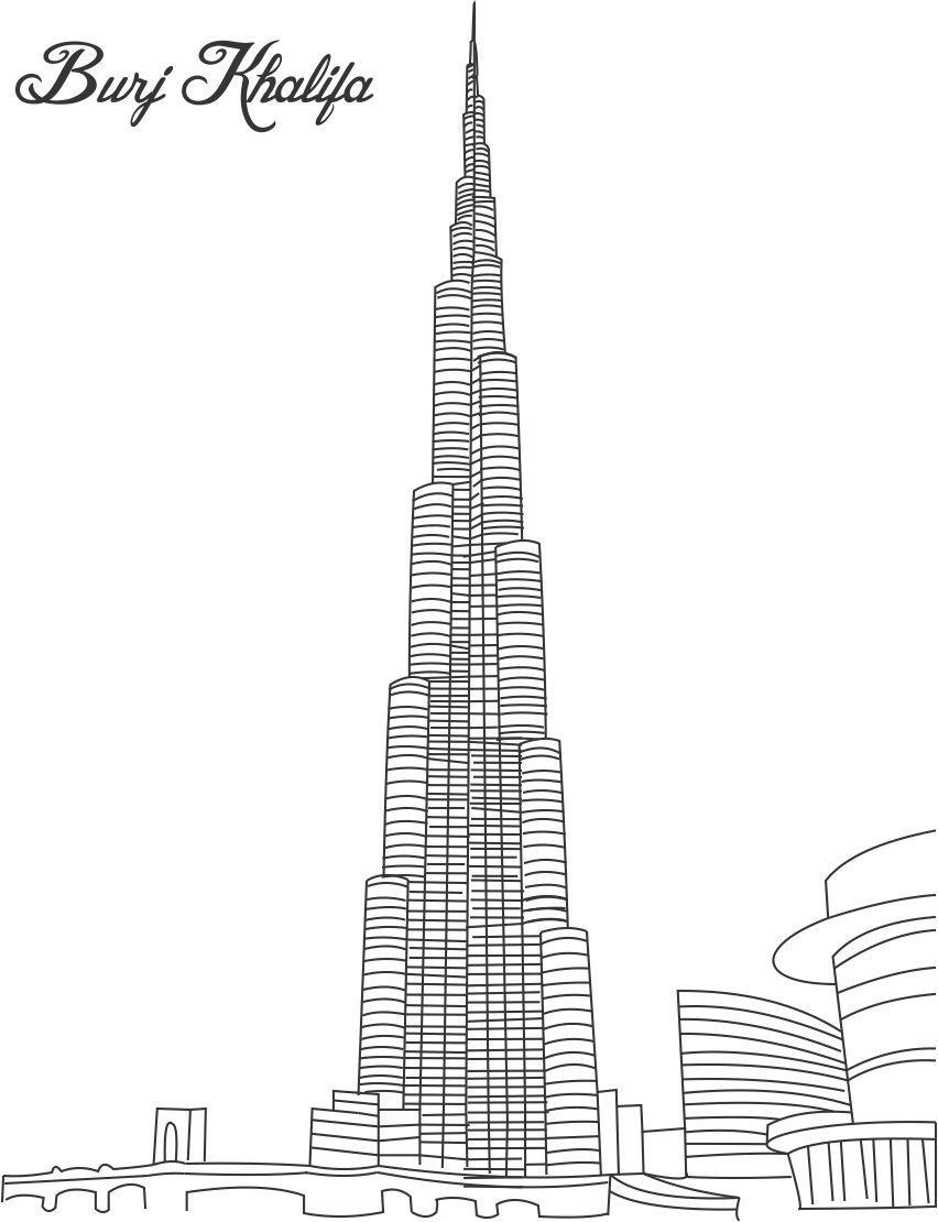 Dubai coloring #19, Download drawings