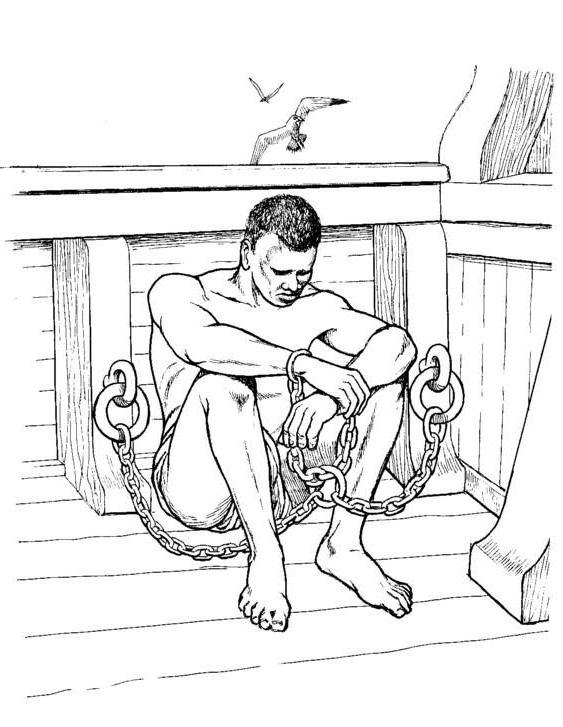 Slave coloring #14, Download drawings