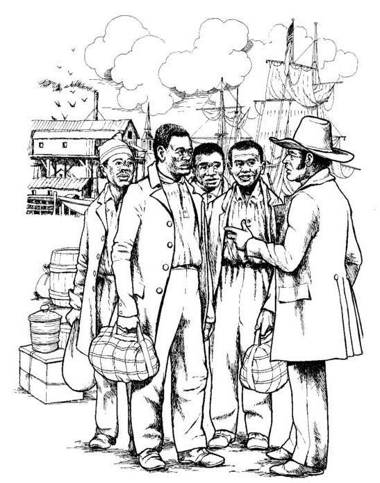 Slave coloring #4, Download drawings