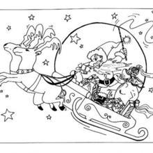Sleigh coloring #2, Download drawings