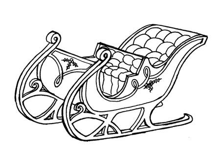 Sleigh coloring #17, Download drawings
