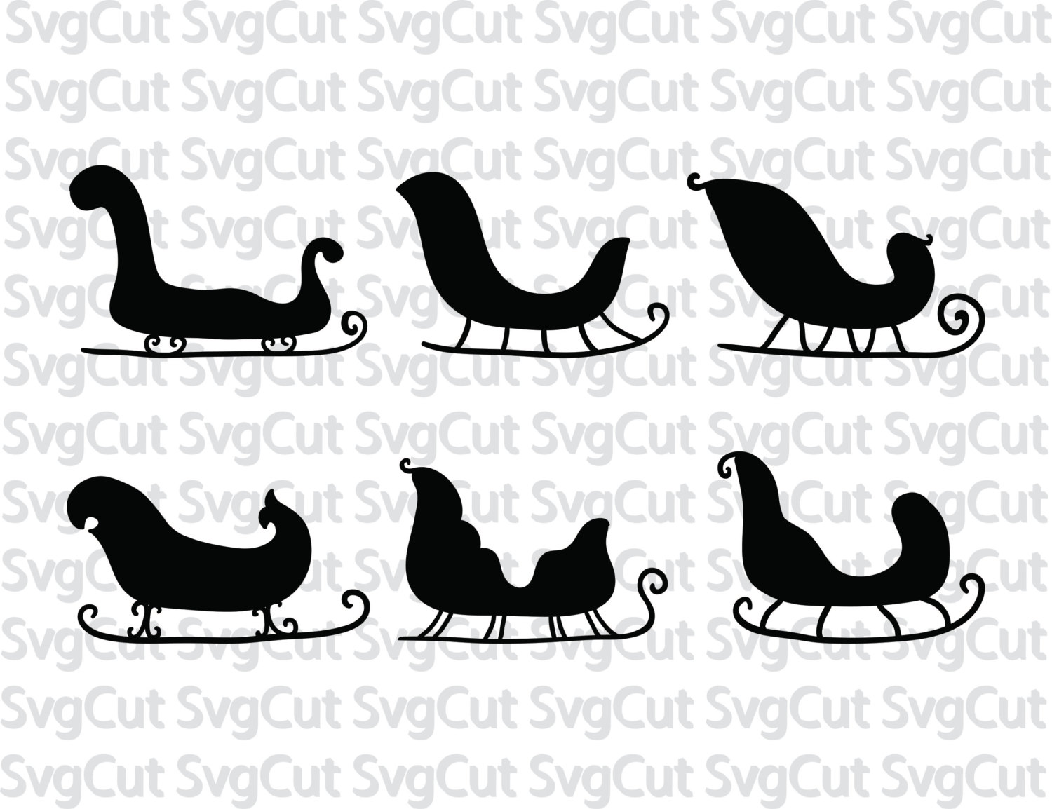 Sleigh svg #698, Download drawings