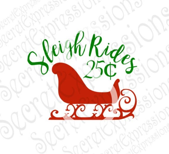 Sleigh svg #507, Download drawings