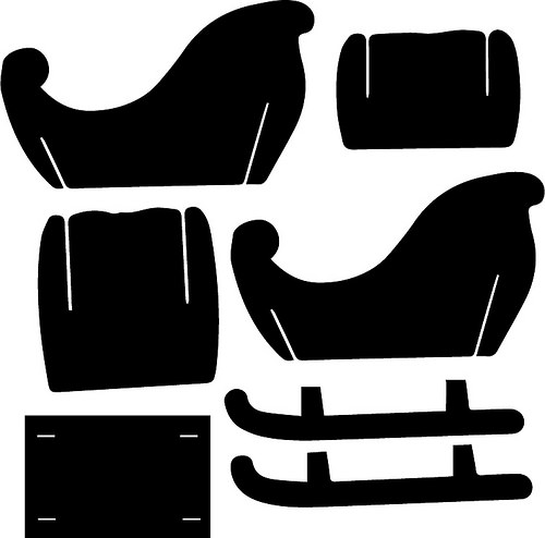 Sleigh svg #15, Download drawings
