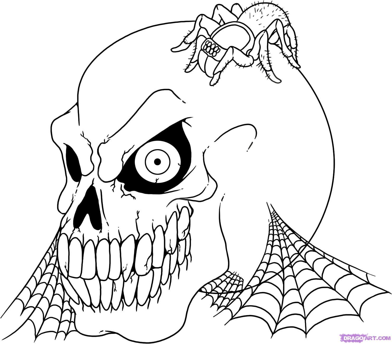 Sleleton coloring #1, Download drawings