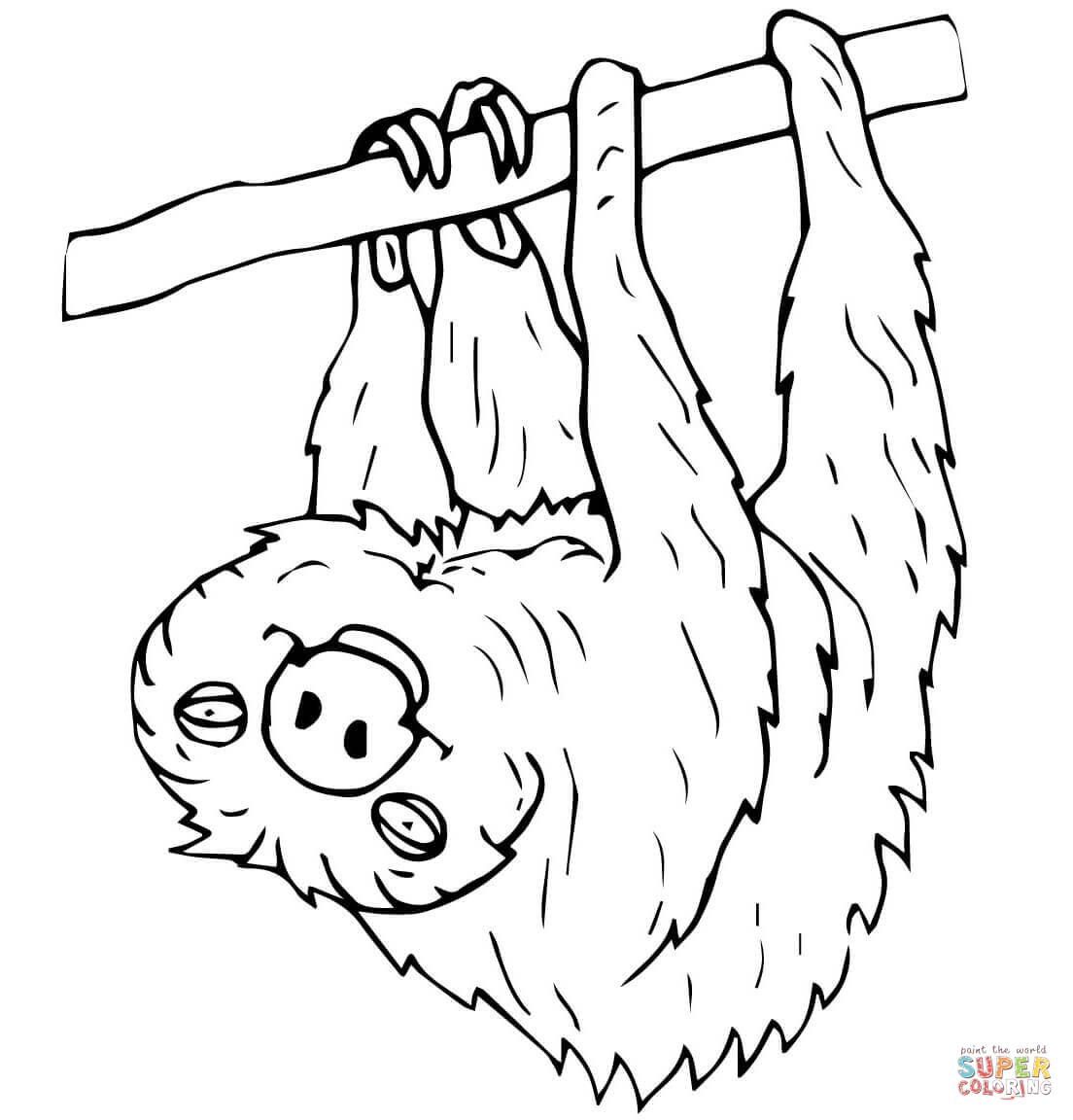 Sloth coloring #3, Download drawings