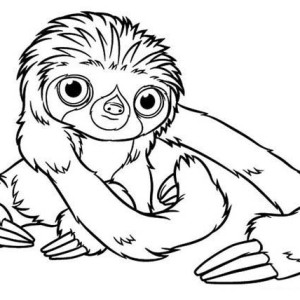 Sloth coloring #12, Download drawings