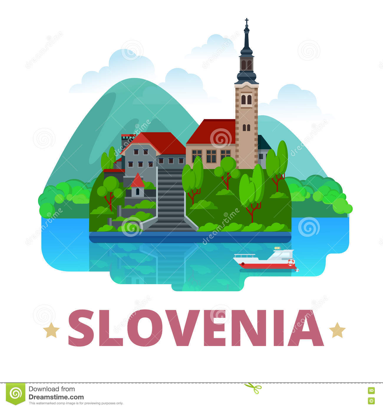 Slovenia clipart #1, Download drawings