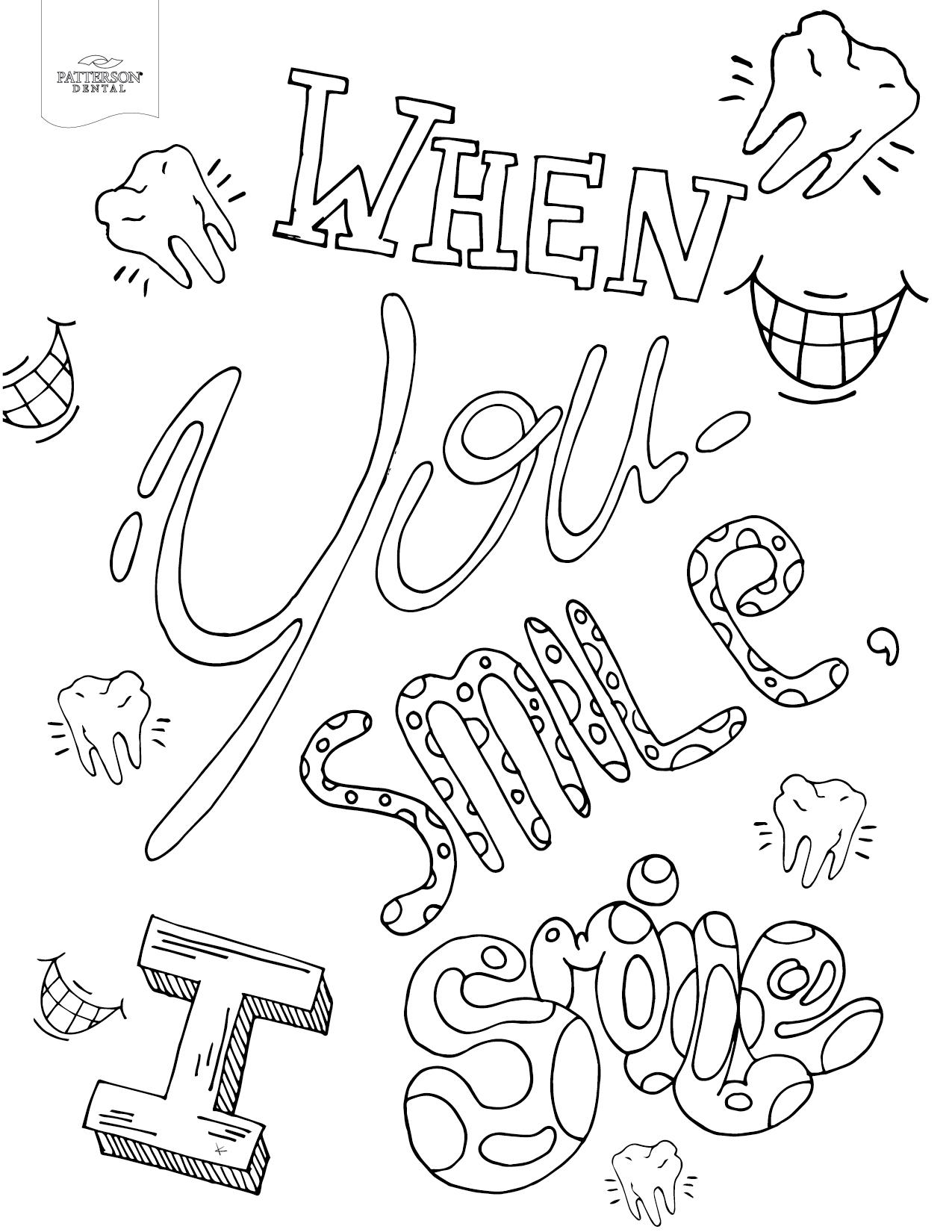 Smile coloring #3, Download drawings