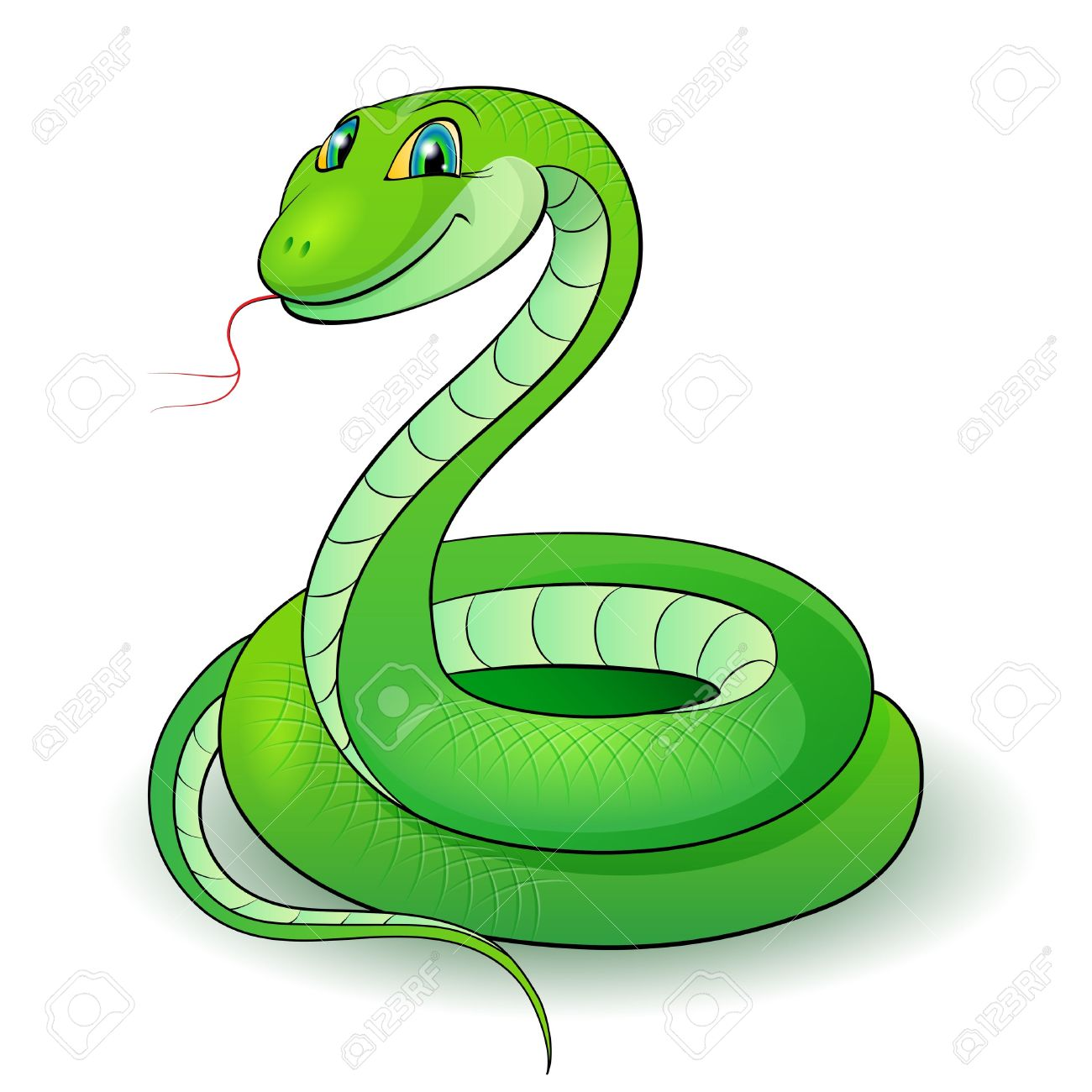 Smooth Green Snake clipart #8, Download drawings