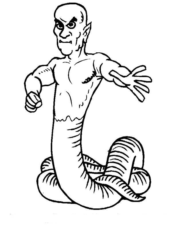 Snakeman coloring #20, Download drawings