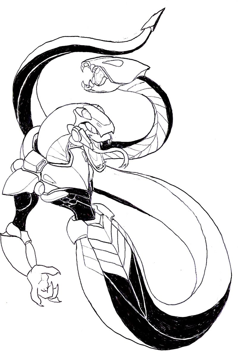 Snakeman coloring #5, Download drawings