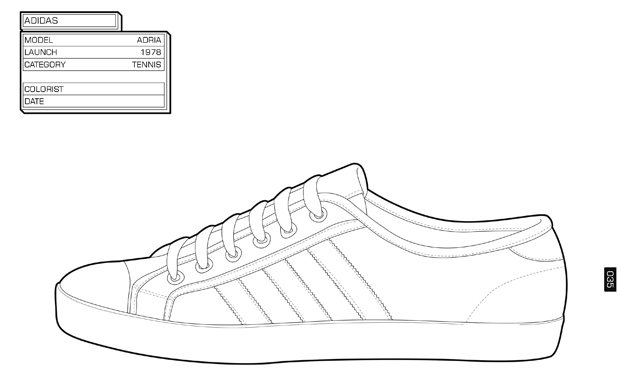Sneakers coloring #5, Download drawings