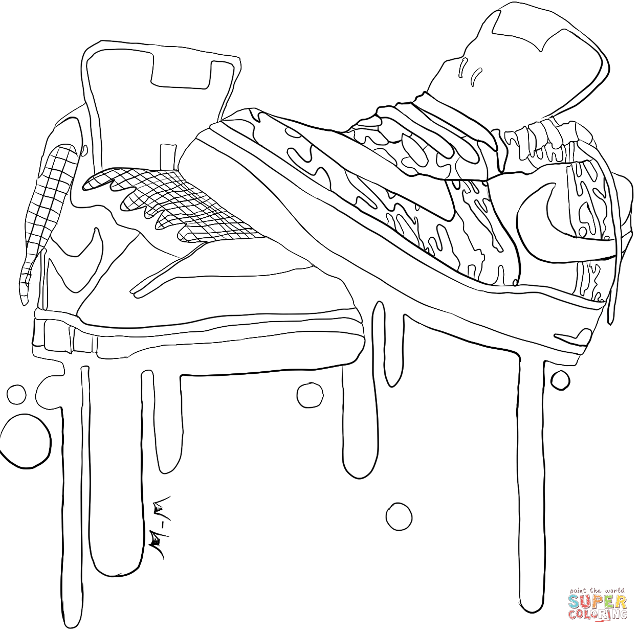 Sneakers coloring #8, Download drawings