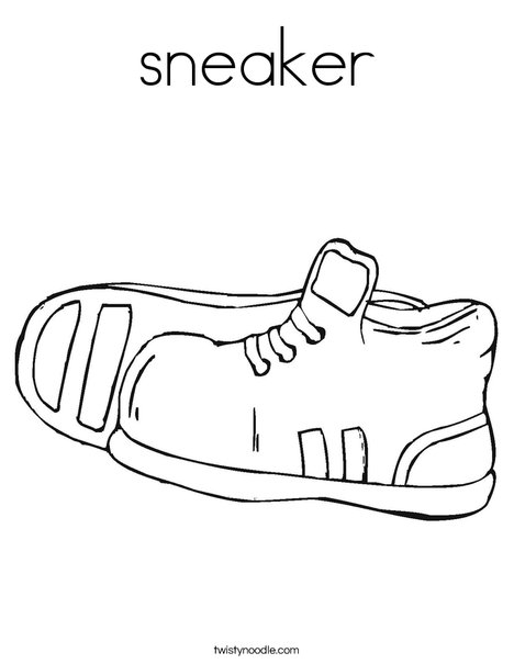 Sneakers coloring #19, Download drawings
