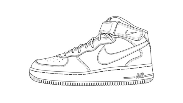 Sneakers coloring #18, Download drawings