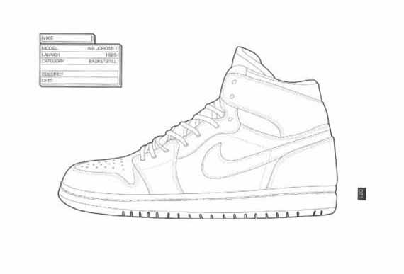 Sneakers coloring #3, Download drawings