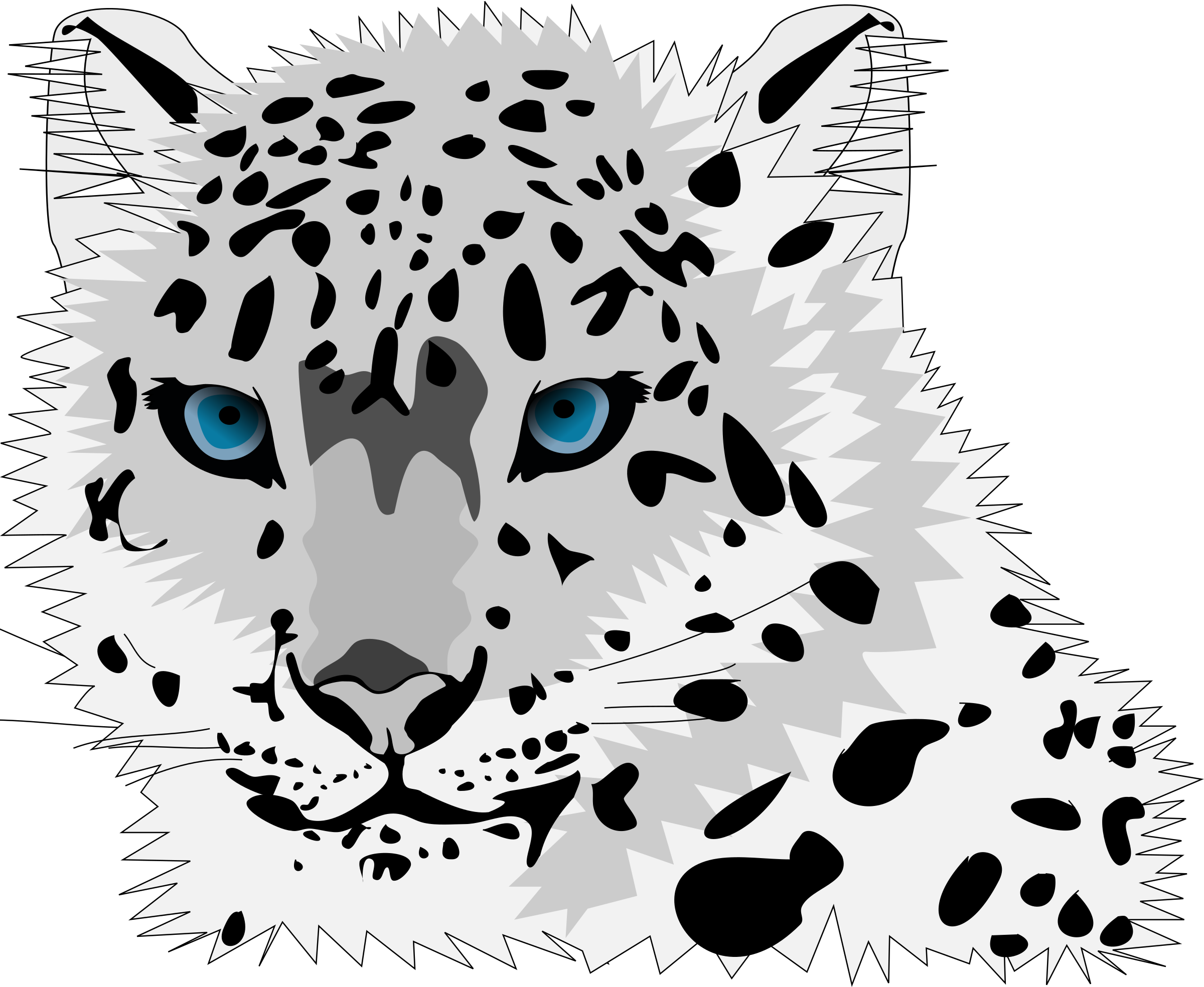 Snow Leopard clipart #5, Download drawings