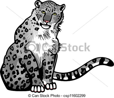 Snow Leopard clipart #11, Download drawings