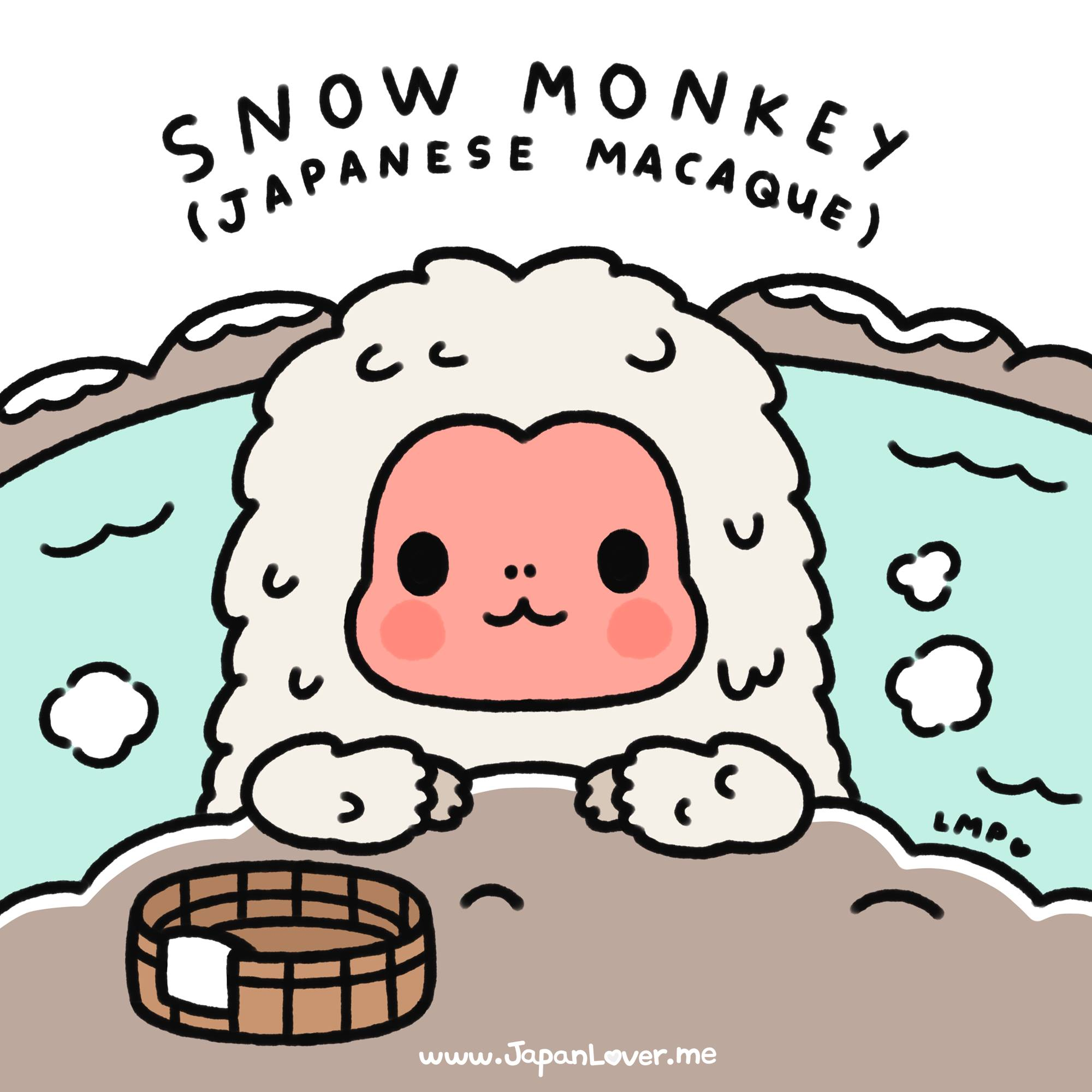 Snow Monkey clipart #2, Download drawings