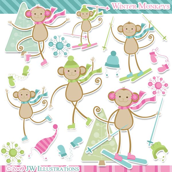 Snow Monkey clipart #4, Download drawings
