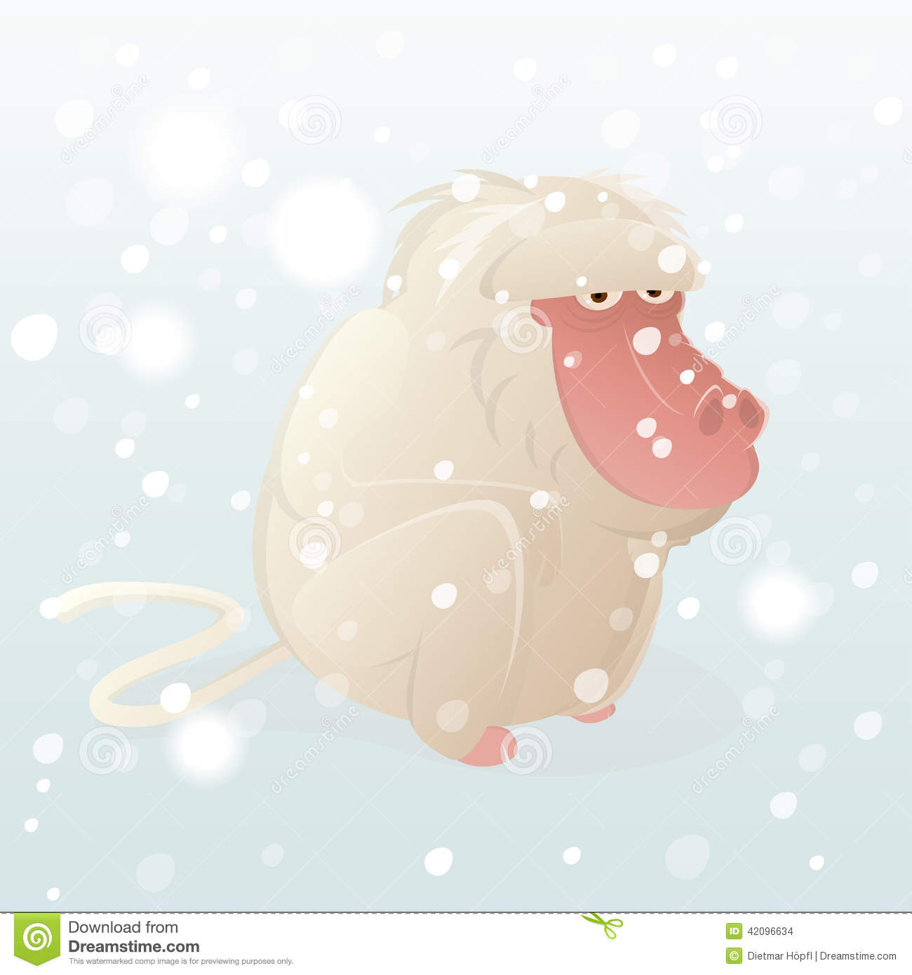 Snow Monkey clipart #17, Download drawings