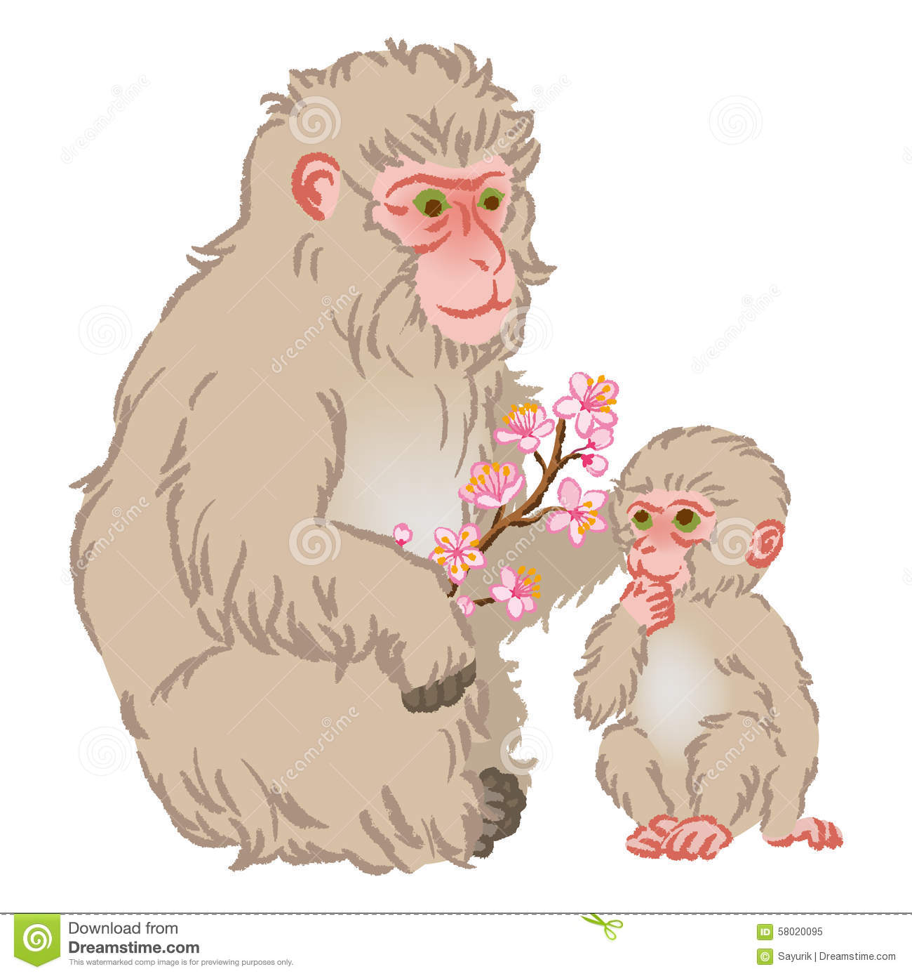 Snow Monkey clipart #18, Download drawings
