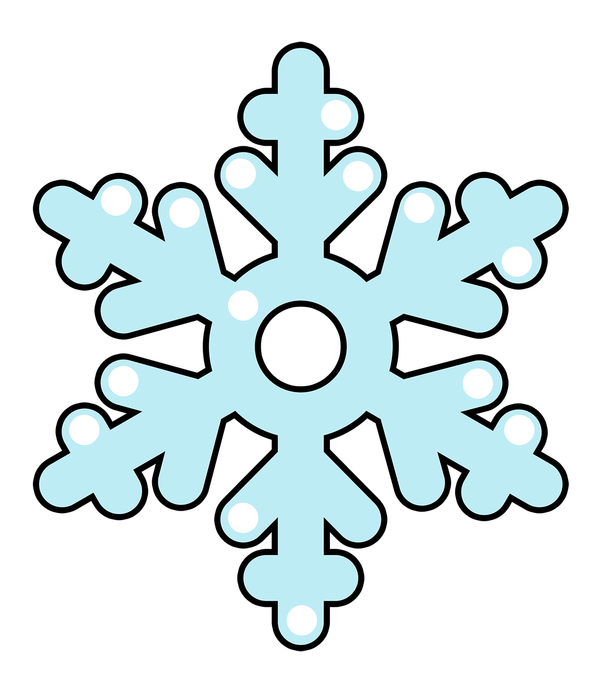 Snowflake clipart #7, Download drawings