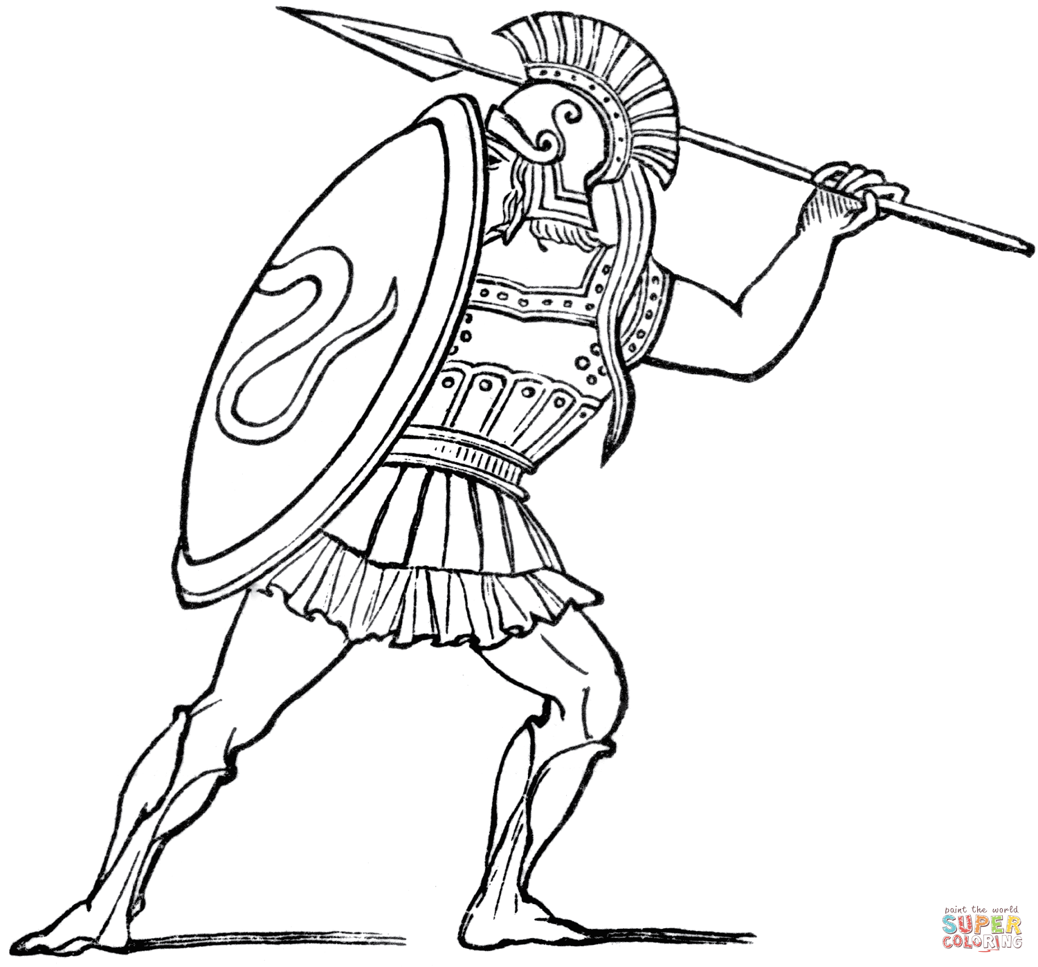 Ancient coloring #3, Download drawings