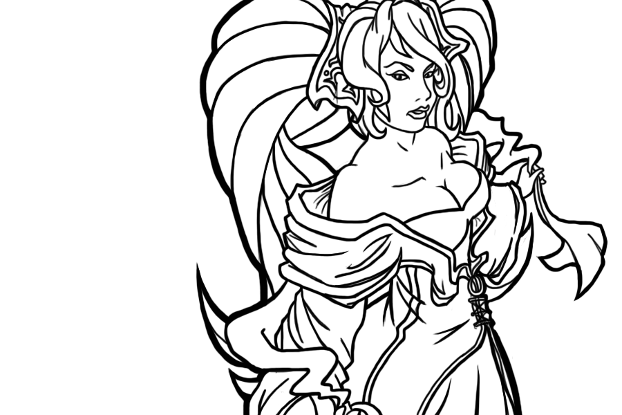 Sona (League Of Legends) coloring #1, Download drawings