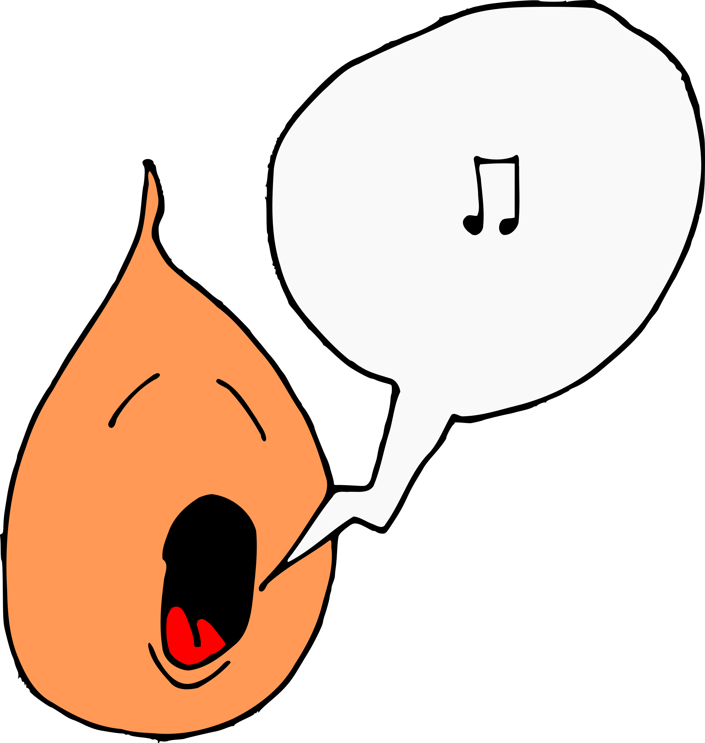 Song clipart #2, Download drawings