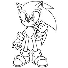 Sonic The Hedgehog coloring #20, Download drawings