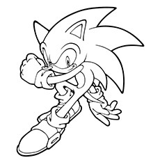Sonic The Hedgehog coloring #18, Download drawings
