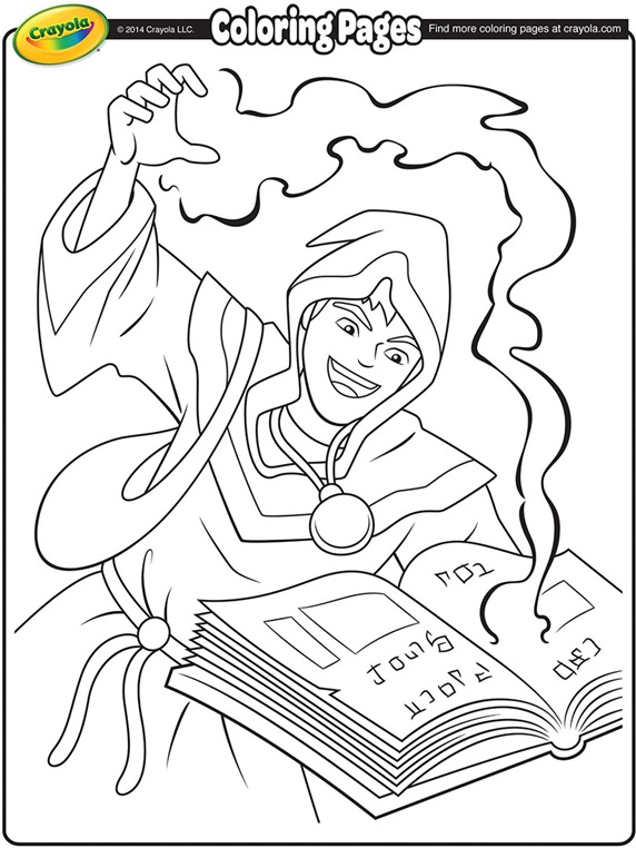 Sorcerer coloring #2, Download drawings