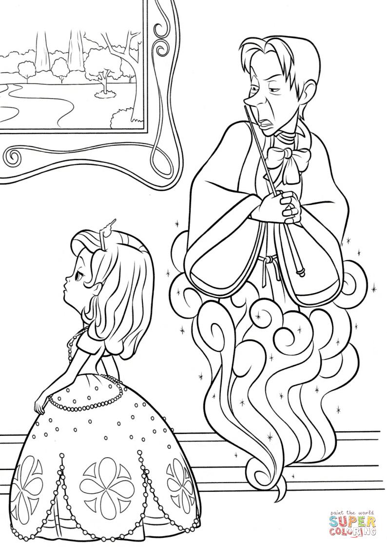 Sorcerer coloring #6, Download drawings