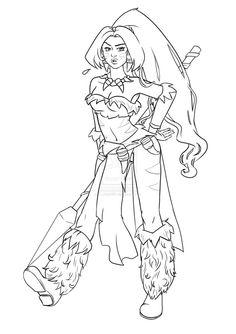 Sorceress coloring #10, Download drawings