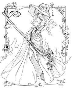 Sorceress coloring #9, Download drawings