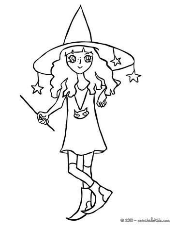 Sorceress coloring #7, Download drawings