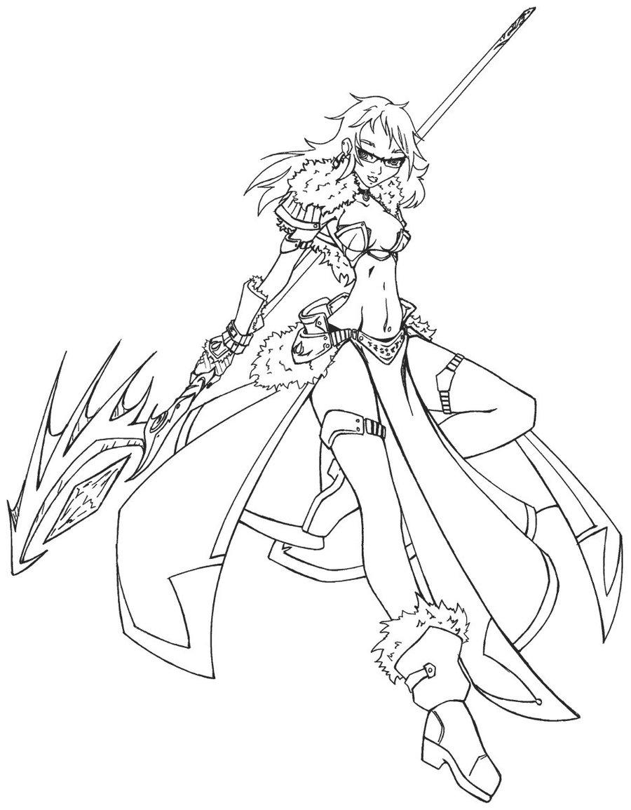 Sorceress coloring #4, Download drawings