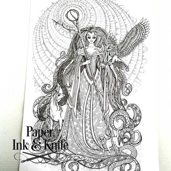 Sorceress coloring #18, Download drawings