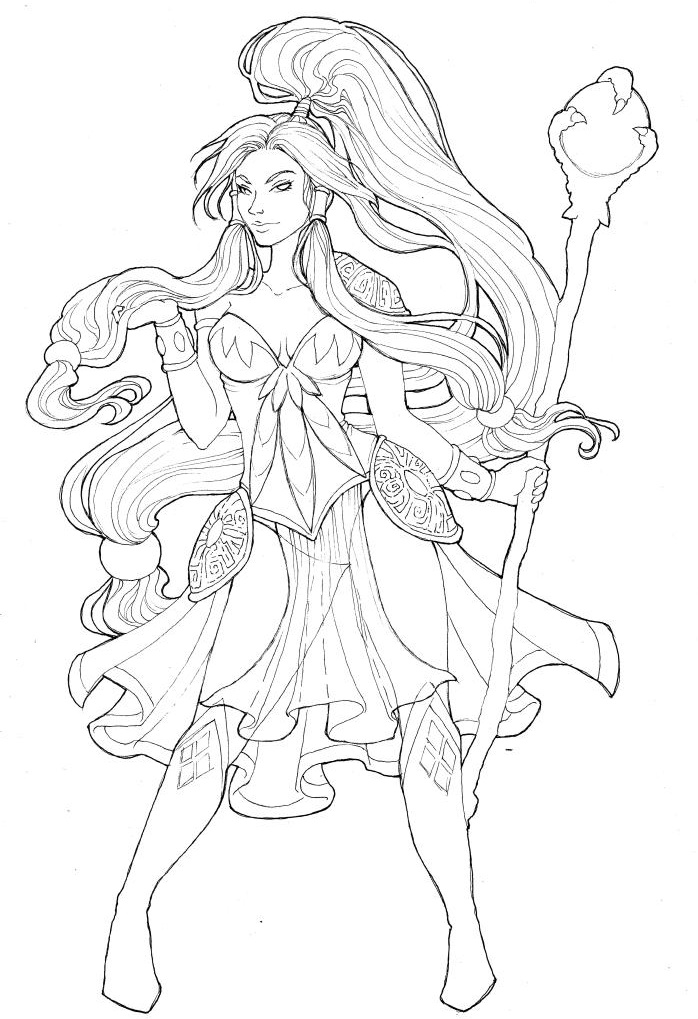 Sorceress coloring #12, Download drawings