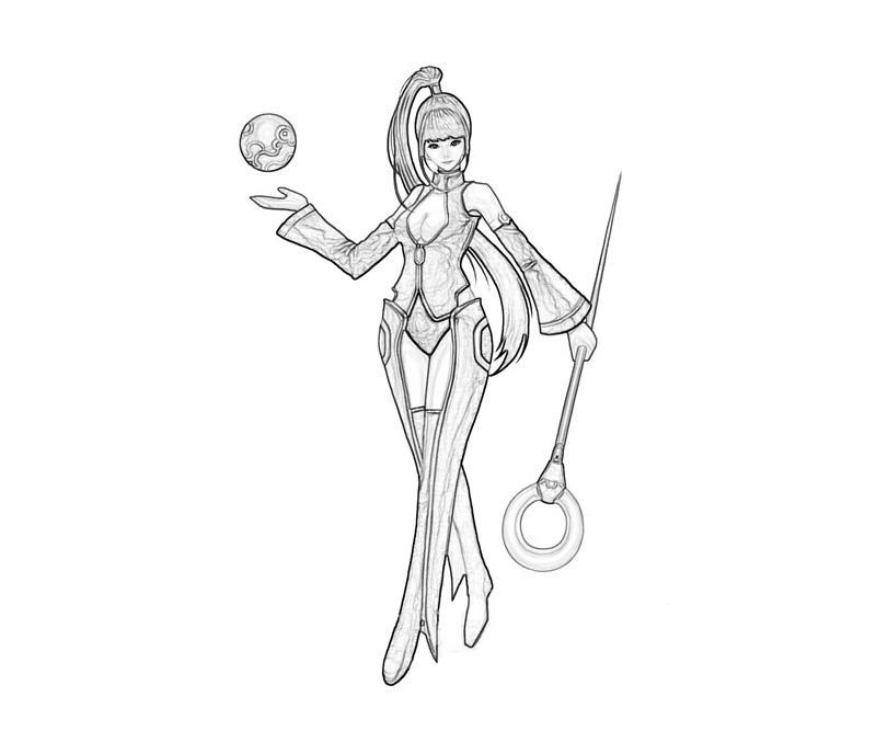 Sorceress coloring #1, Download drawings