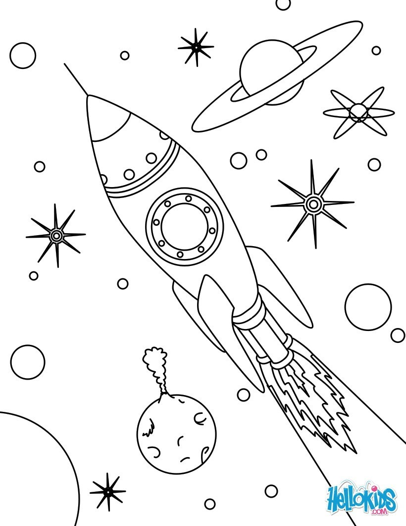 Space coloring #7, Download drawings
