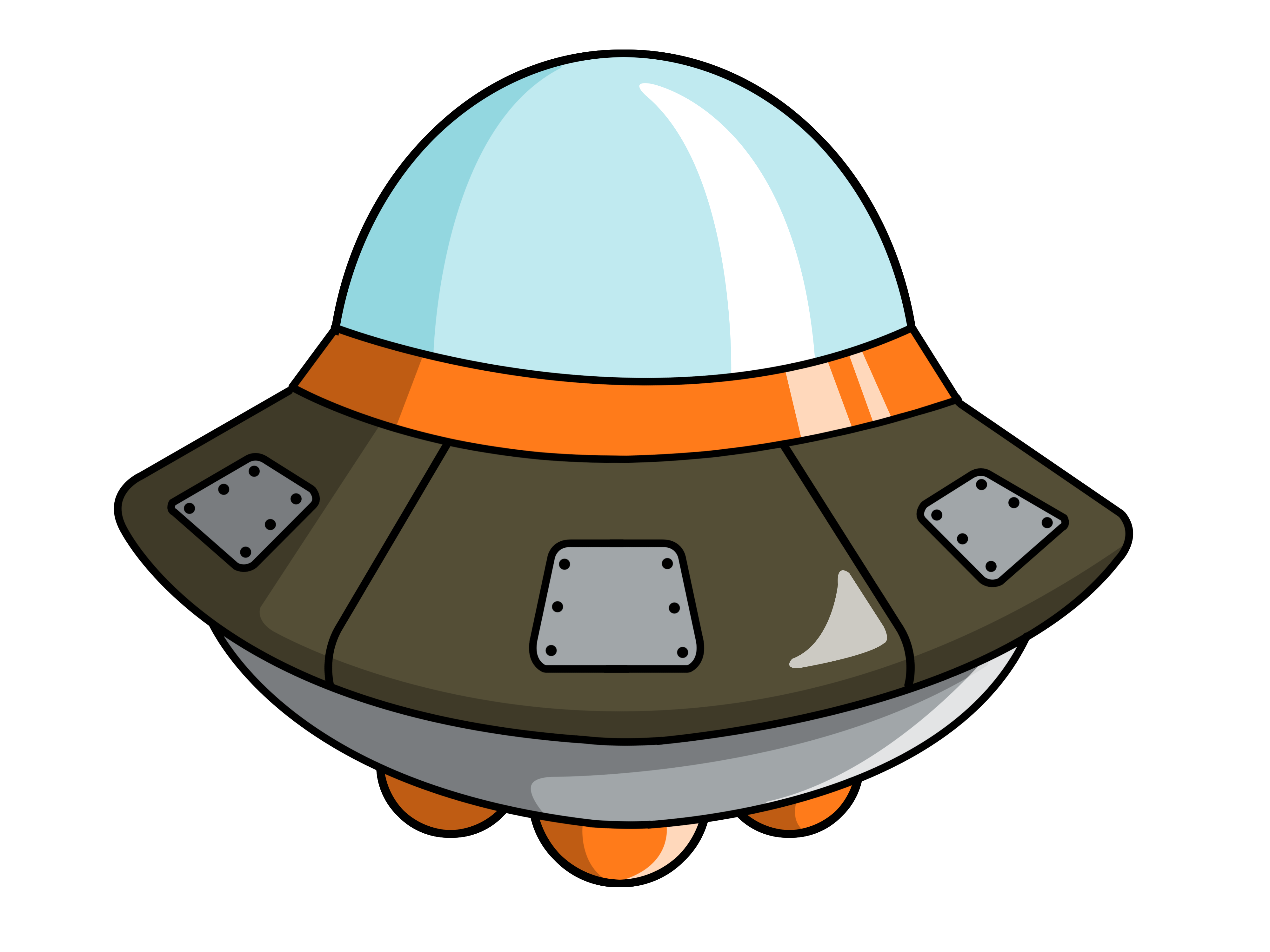 Spaceship clipart #4, Download drawings