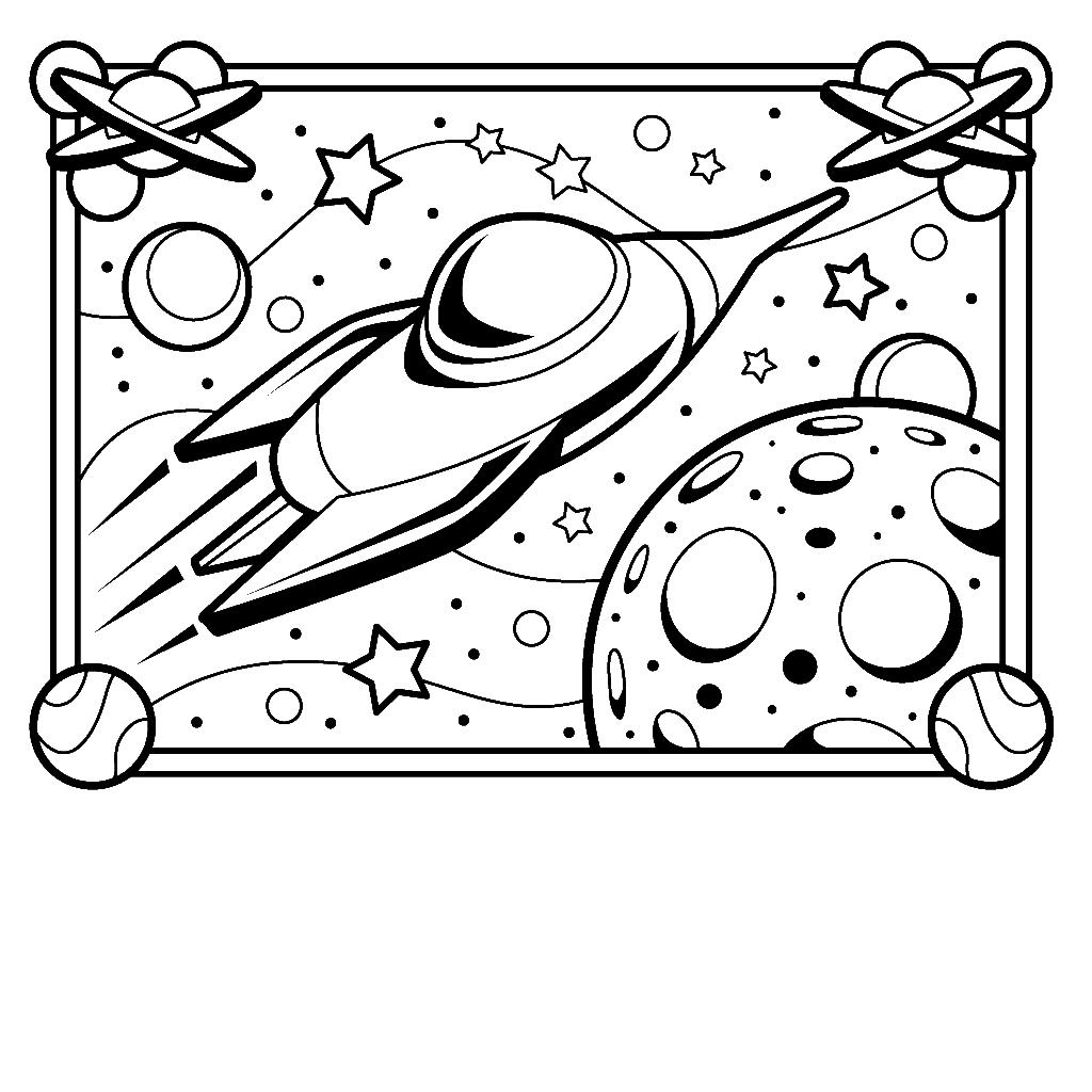 Spaceship coloring #11, Download drawings