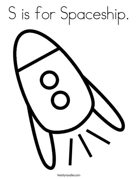 Spaceship coloring #10, Download drawings