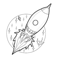 Spaceship coloring #5, Download drawings